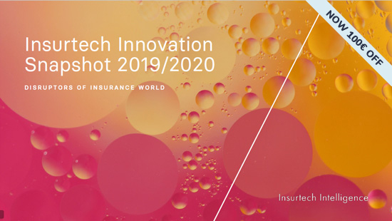 Insurtech Innovation Snapshot 2019 2020 - 100€ off - cover